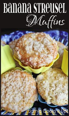 Banana Streusel Muffins from Jamie Cooks It Up!