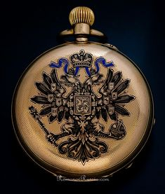 Antique Russian Imperial Presentation Gold Pocket Watch by Pavel Bure (Paul Buhre), circa 1899