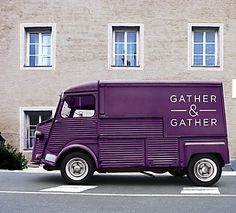 Identity for food service co. Gather & Gather, UK. Designer: Pearlfisher. Described as simple and homey by the designers - I agree. #identity