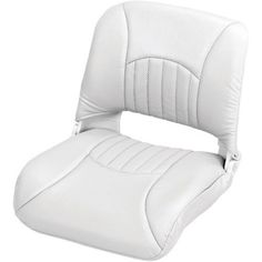 Wise Clam Shell-Pro Style Boat Seat, White