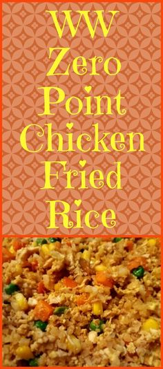 Chicken Fried Rice Chicken Fried Rice,Weight watchers Enjoy this chicken fried rice recipe using riced cauliflower instead of the traditional rice. It is zero points on the Weight Watchers Freestyle program! Weight Watchers Smart Points, Weight Watchers Diet, Weight Watcher Dinners, Weight Watchers Chicken, Weight Loss Meals, Weight Watchers Program, Weight Watcher Smoothies, Skinny Recipes, Ww Recipes