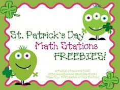 "Here are two St. Patrick's Day themed math activities. Includes domino addition and a ""Roll Your Luck"" game."