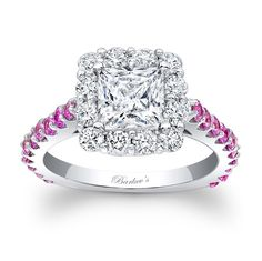 Pink Sapphire Engagement Ring - 7939LPSW