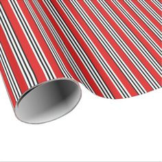 Red Black White Stripes Wrapping Paper - Xmas ChristmasEve Christmas Eve Christmas merry xmas family kids gifts holidays Santa