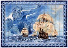 "O ""Adamastor"" - Azulejos portugueses"