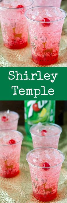 Shirley Temples are the ultimate kiddie cocktail! Great for holiday parties with… Shirley Temples are the ultimate kiddie cocktail! Great for holiday parties with family, expectant mothers, or designated drivers! Christmas Drinks Alcohol, Holiday Drinks, Holiday Recipes, Holiday Parties, Party Recipes, Christmas Mocktails, Party Drinks Alcohol, Non Alcoholic Drinks For Party, Holiday Desserts