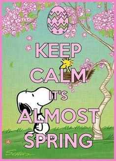 Keep calm Snoopy spring