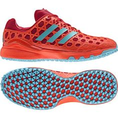 Red Orange adidas Performance Mens Lux Field Hockey Training Shoes Trainers