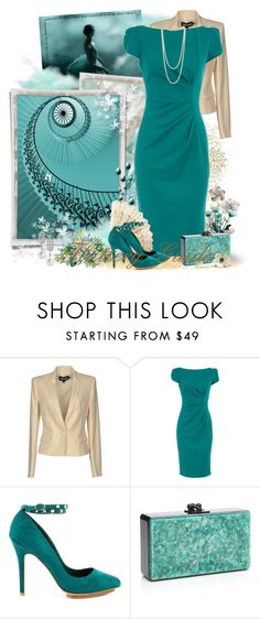 """""""Wendelyn"""" by flattery-guide ❤ liked on Polyvore featuring Baldwin, Just Cavalli, Dorothy Perkins, JustFabulous, Edie Parker and Mikimoto"""