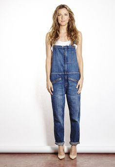 Current/Elliott: Boyfriend Zip Overalls | Bucks & Does