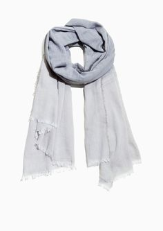 & Other Stories image 1 of Lightweight Cotton Scarf in Grey