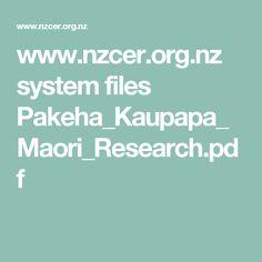 www.nzcer.org.nz system files Pakeha_Kaupapa_Maori_Research.pdf Research, Pdf, Learning, Maori, Search, Studying, Teaching