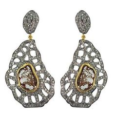 cool Natural Diamond Pave Fine Dangle Earrings 14k Gold 925 Sterling Silver Jewelry Check more at http://shipperscentral.com/wp/product/natural-diamond-pave-fine-dangle-earrings-14k-gold-925-sterling-silver-jewelry/