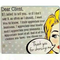 Dear client More More