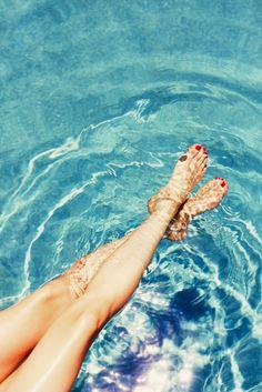 Pool dip! Katherine Power wears Haute In The Heat by @essiepolish
