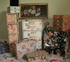 I love fabric covered boxes use to be very popular