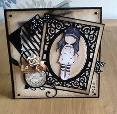 Gorjuss. Belle And Boo, Santoro London, Vintage Box, Mothers Day Cards, Penny Black, Kids Cards, Cute Cards, Stampin Up Cards, Paper Dolls