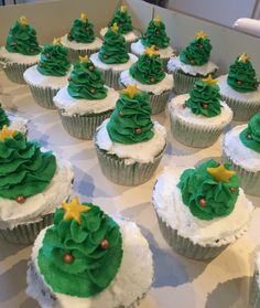 Christmastree cupcakes