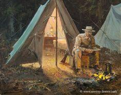 TR AT CAMP Not Just Wildlife Art of John & Suzie Seerey-Lester