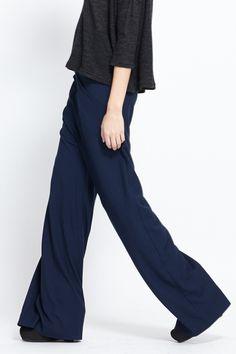 Assembly New York Wide Leg Gaucho Pants (Navy)