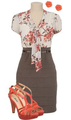 """Teacher, Teacher 141"" by qtpiekelso ❤ liked on Polyvore (would not wear the shoes, but LOVE the rest.)"
