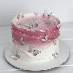 Butterfly Birthday Cakes, Beautiful Birthday Cakes, Butterfly Cakes, Beautiful Cakes, Amazing Cakes, Elegant Birthday Cakes, Butterflies, Pretty Cakes, Cute Cakes