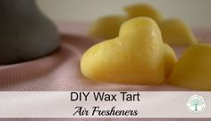 Learn how easy it is to make your own wax tarts for wax warmers! Only 3 natural ingredients! The Homesteading Hippy