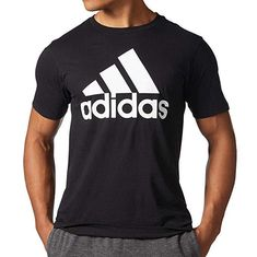 29e270e73f7b New Mens Adidas Black White Trefoil Men s 3-Stripe Striped Tee T-Shirt Sz