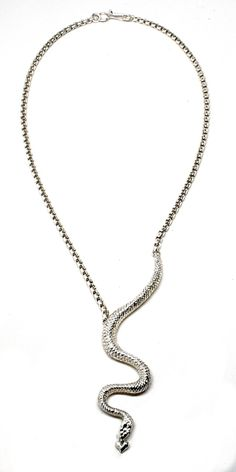 $186 Small Snake Chain Necklace by  MEGAN ISAACS  Shop here: http://www.trendcy.com/small-snake-chain-necklace/