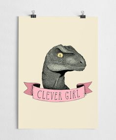 Jurassic park art print with Clever girl quote from the movie. High quality print made on 250g fine paper with a large format Epson printer. Sizes available: A3 30x42cm (11.7 x 16.5 ) A4 21x30cm (8.3x11.7 ) A5 15x21cm (5.9x8.3 ) -------------------------------- Frame not included The posters are delivered in sturdy cardboard tubes, or cardboard envelopes, depending of the size of the print. -------------------------------- I also sell wholesale to retailers, contact me if you are intere...