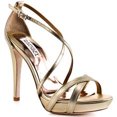 I'm feeling a lot of gold this year with colorful accents. Badgley Mischka - $174.99