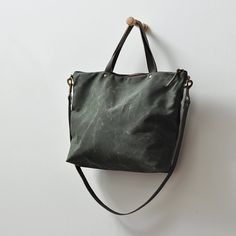CARRY BAG forest green by bookhoudesign on Etsy