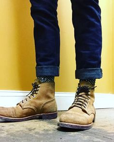 Wise men say that spending on things that keep you from the ground such as your bed, mattress, tires, and shoes, is worth the investment. Red Wing Iron Ranger, Suit Shoes, Red Wing Boots, Mens Boots Fashion, Walking Boots, Motorcycle Boots, Sneaker Boots, Jeans And Boots, Leather Boots