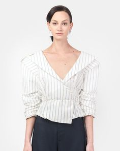 Le Top Marin in Off White/Blue Stripe