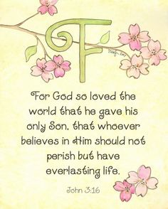 For God so loved the world that He gave His only begotten Son, that whoever believes in Him should not perish but have everlasting life. [John 3:16]
