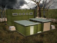 Zombie Survival Compound Greenhouse Design on above ground survivalist compound design, military compound design, self-sufficient compound design, prepper compound design,