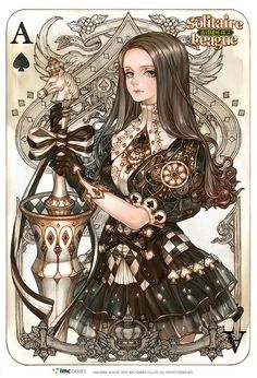 carte a jouer alice in wonderland ~ carte a jouer alice in wonderland Arte Steampunk, Steampunk Fashion, Character Concept, Character Art, Concept Art, Anime Sexy, Alice In Wonderland Anime, Pixiv Fantasia, Female Characters
