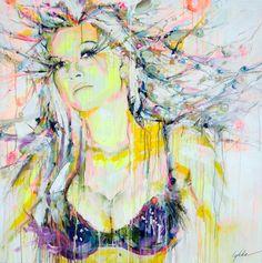 "Saatchi Online Artist: Lykke Steenbach Josephsen; Mixed Media, 2010, Painting ""Commissioned Portrait Painting"" #LykkeJosephsen"