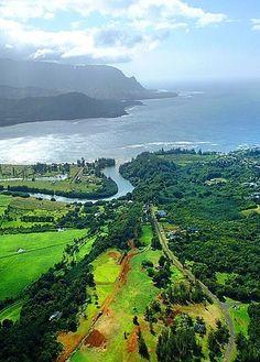 Hanalei Bay Beach,  Kauai Hawaii :  so ready to go back here. Beautiful!