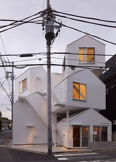 The Tokyo Apartment block from Japanese architect Sou Fujimoto consists of four homes stacked on top of one another.  COS   Things   SOU FUJIMOTO