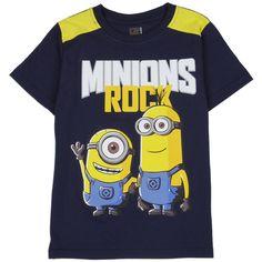 Child/'s Minion Long Sleeve Grey T-Shirt Funny logo size 2-3years