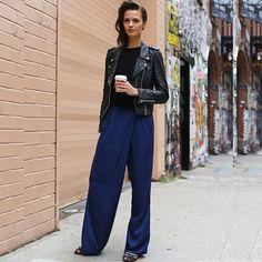 #stealthelook #look #looks #streetstyle #streetchic #moda #fashion #style #estilo #inspiration #inspired #pantalona #jaqueta #couro #camiseta