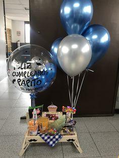 Diy Birthday Decorations, Birthday Diy, Balloon Decorations, Birthday Gifts For Boyfriend Diy, Boyfriend Gifts, Best Dad Gifts, Love Gifts, Food Bouquet, Bubble Balloons