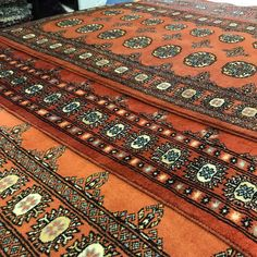 Bokhara Terra Rugs - these popular classic wool rugs are each unique in their interpretation of the classic Bokhara pattern, with each shade and secondary colour sequence varying from piece to piece as seen on this photo of three borders #TheRugsWarehouse #London Classic Rugs, Wool Rugs, Traditional Rugs, Secondary Color, Small Rugs, Persian Rug, Oriental Rug, Terracotta, Colour