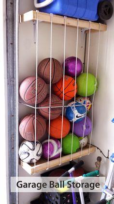 Garage Ball Storage Sports Bin Organizer Home Decoration Vertical