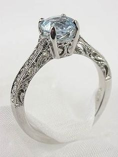 antique aquamarine ring