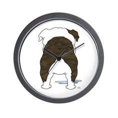 Bulldog Butt Wall Clock