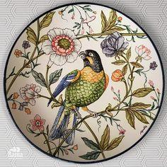 Pottery Painting, Ceramic Painting, Sailboat Art, Paisley Art, Art Decor, Decoration, Pottery Plates, China Painting, Modern Ceramics