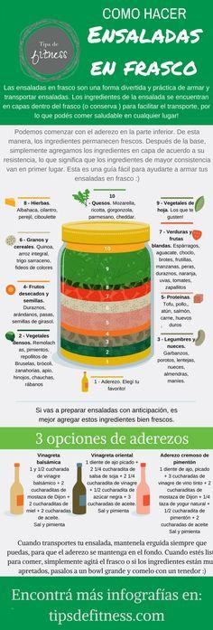 Cómo armar ensaladas en frasco