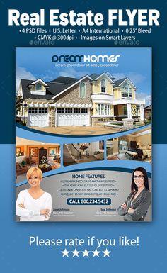 Real Estate Flyer Template #design #flyerpsd Download: http://graphicriver.net/item/real-estate-flyer/9870691?ref=ksioks